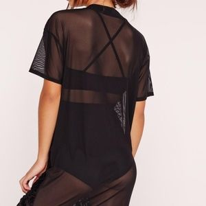 19bec54ee59 Missguided Dresses - New Missguided snake flock mesh tee shirt dress